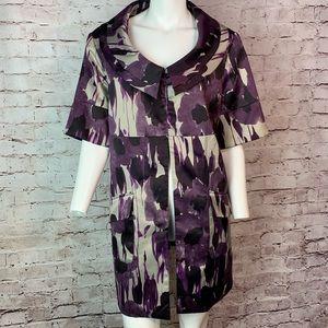 Simply Vera Wang Purple Satin Jacket Blazer